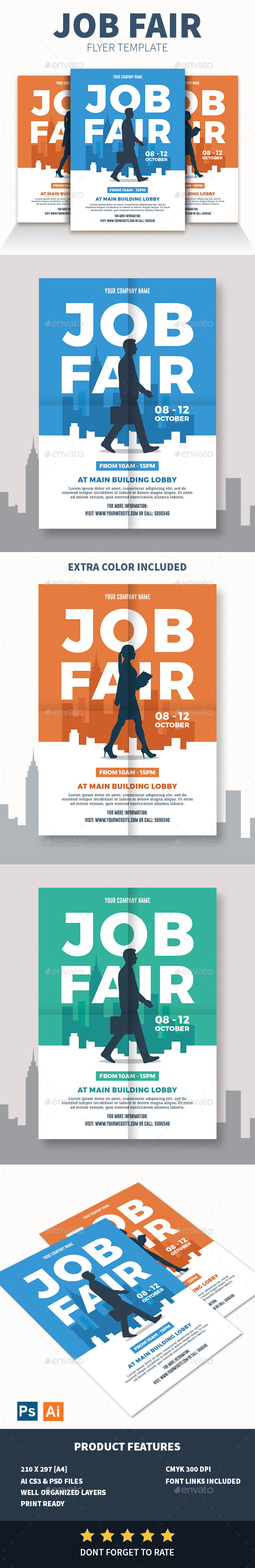 GraphicRiver Job Fair Flyer 20802490