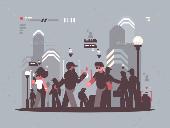 GraphicRiver System Tracking People in Crowd 20802525