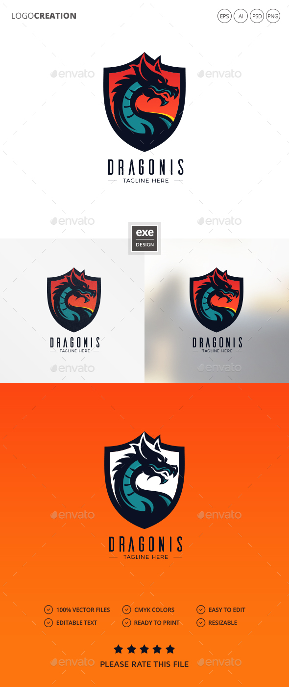 GraphicRiver Dragon Logo 20802557