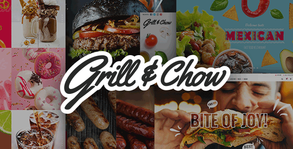 Grill and Chow - Fast Food, Pizza, and Diner Theme - Restaurants & Cafes Entertainment