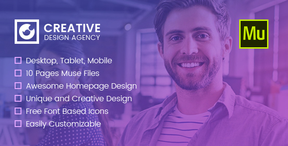 ThemeForest Creative Multi-purpose Muse Template 20802687