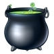 Cartoon Halloween Witch Magic Cauldron - GraphicRiver Item for Sale