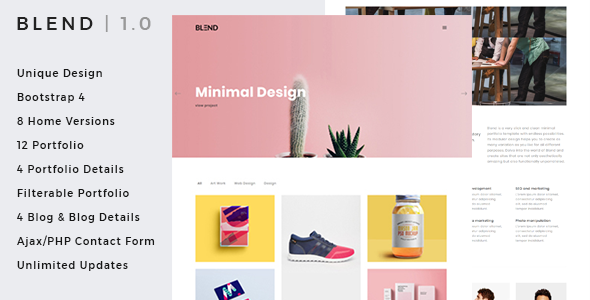 Download Free Blend - Clean & Creative Minimal Portfolio & Agency HTML Template