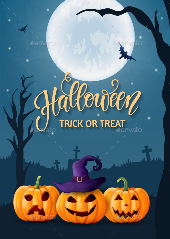 Halloween Greeting Card for Party and Sale - Halloween Seasons/Holidays