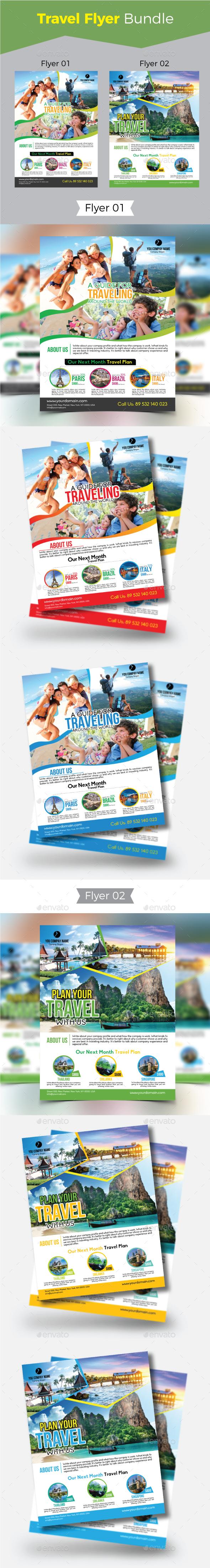 Travel Flyer Bundel - Holidays Events