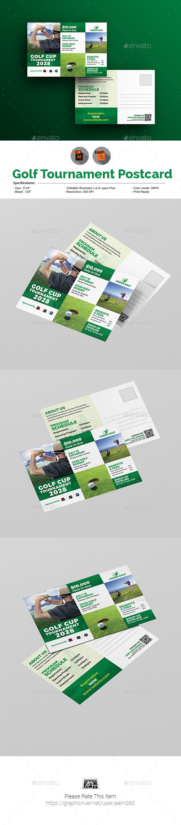 Golf Tournament Postcard - Cards & Invites Print Templates