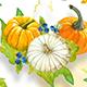 Autumn Watercolor Fruits