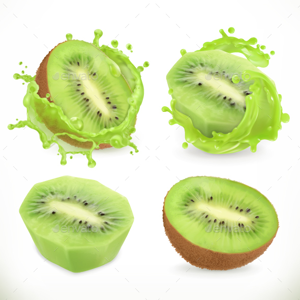 Kiwi Fruit Juice - Food Objects