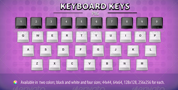 Keyboard Keys - Man-made objects Objects