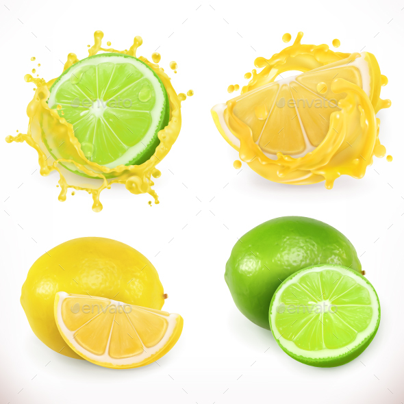 Lemon and Lime Juice - Food Objects