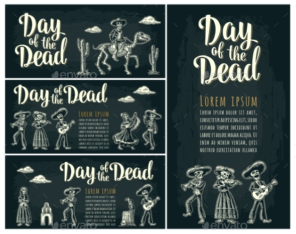 Horizontal Poster for Dia De Los Muertos - Miscellaneous Seasons/Holidays