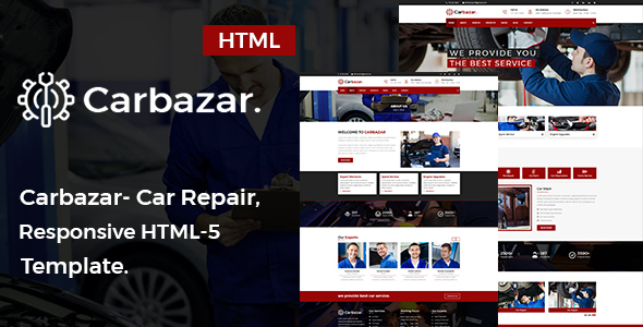 ThemeForest Carbazar Car Repair HTML5 Template 20803374