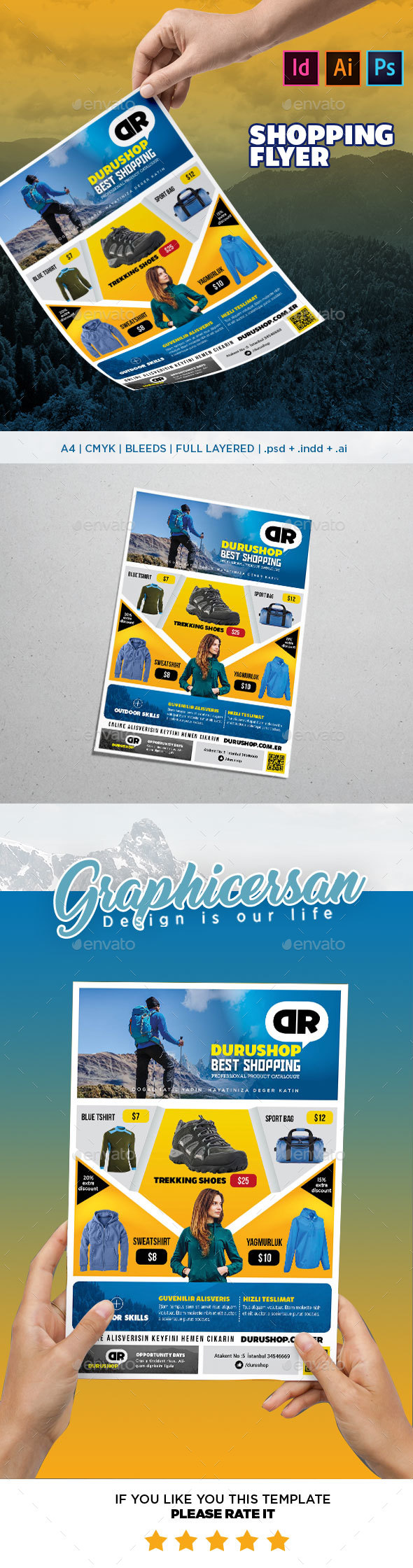 GraphicRiver Shopping Flyer Template 20803391