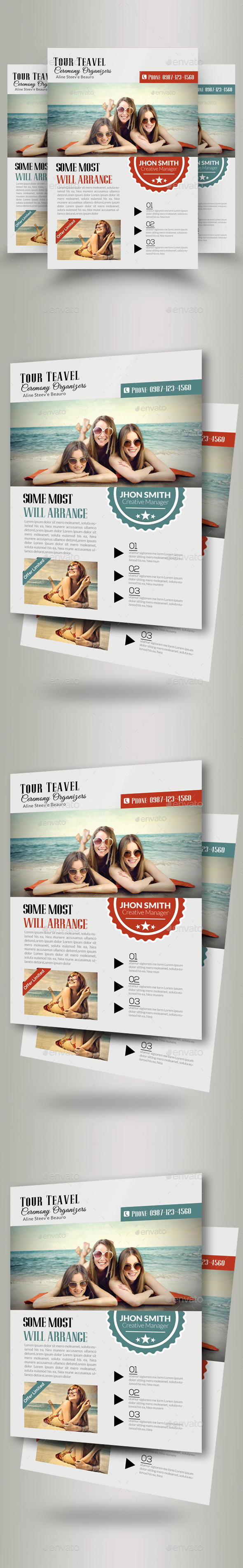 Tour and Travel Flyer Template - Flyers Print Templates
