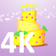 3D Birthday Cake Rotate Animation 4K