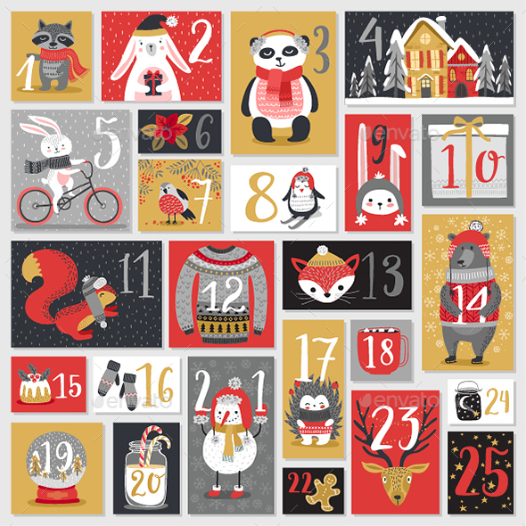 GraphicRiver Christmas Advent Calendar 20803554