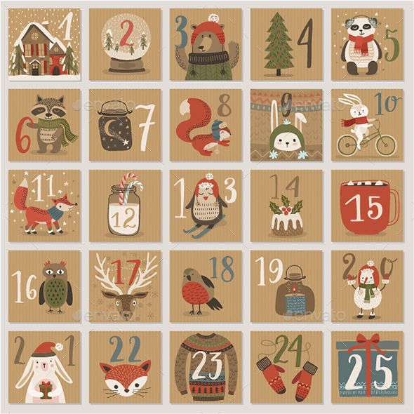 GraphicRiver Christmas Advent Calendar 20803566