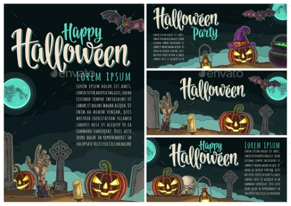 Posters Poster with Halloween Party Calligraphy - Halloween Seasons/Holidays
