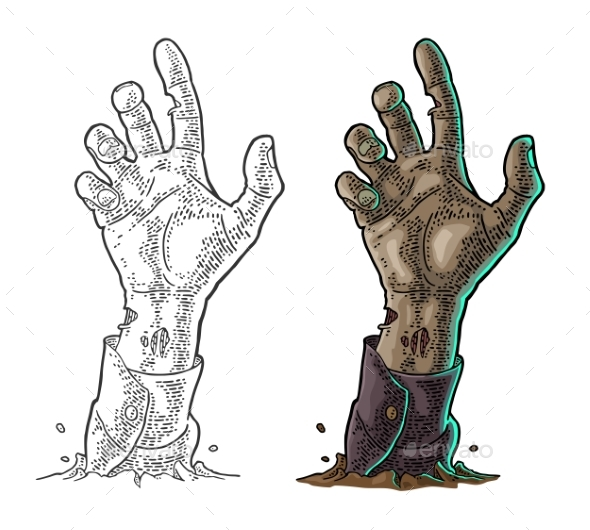 Zombie Hand with Claw - Miscellaneous Vectors
