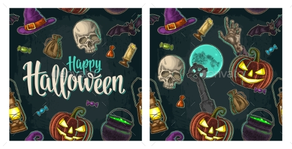 Seamless Pattern for Halloween Party - Miscellaneous Vectors