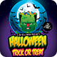 Halloween Trick Or Treat Night Party Flyer