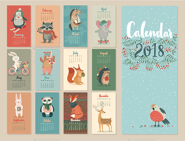 GraphicRiver Calendar 2018 20803623