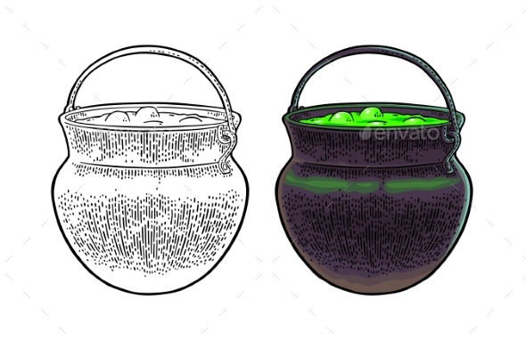 Halloween Cauldron - Man-made Objects Objects