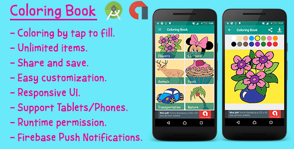 Kids Coloring Book for Android - CodeCanyon Item for Sale