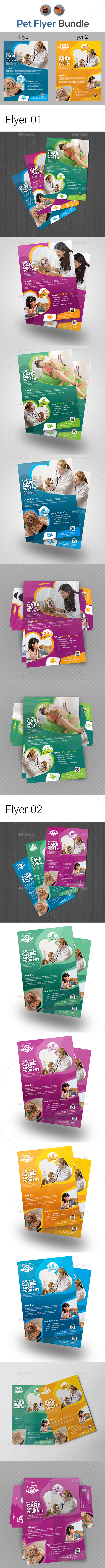 Pet Care Flyer Bundle - Corporate Flyers