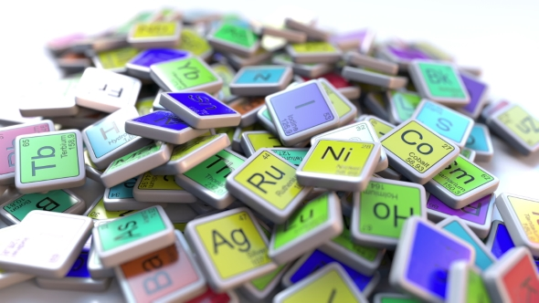 Nitrogen Block On The Pile Of Periodic Table Of The Chemical