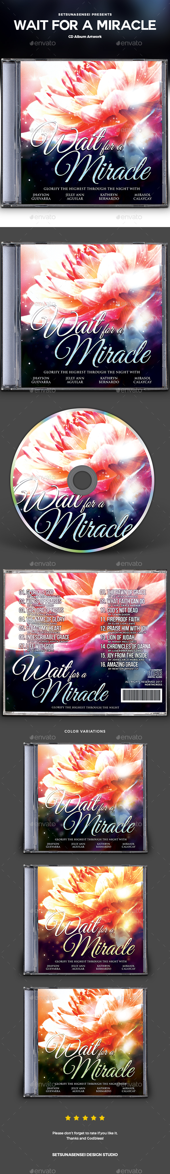 Wait for a Miracle CD Album Artwork - CD & DVD Artwork Print Templates