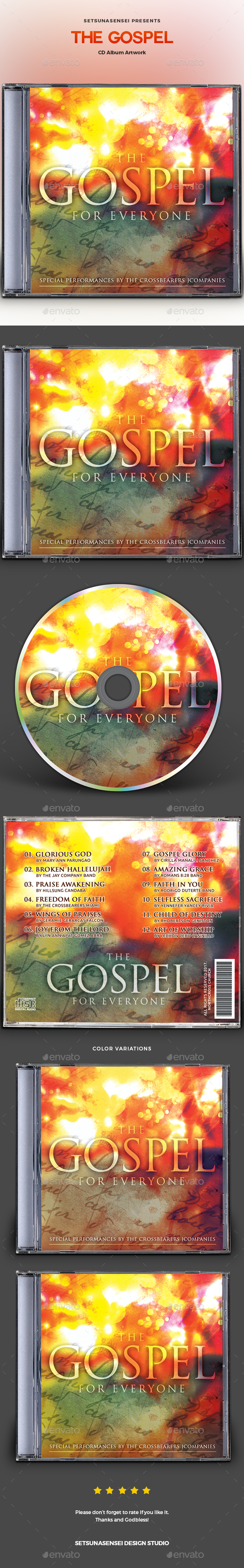 GraphicRiver The Gospel CD Album Artwork 20804221
