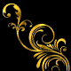 Gold Leaf Flourish