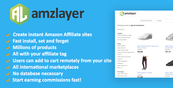 Amzlayer 2018 - Amazon Affiliate Sites Builder - CodeCanyon Item for Sale