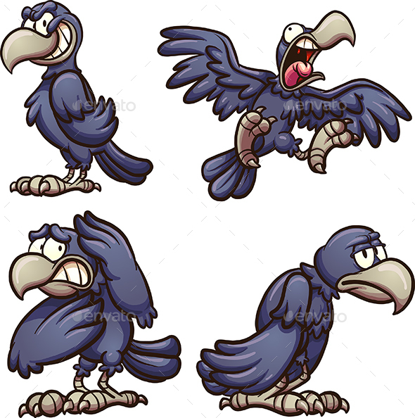 2 Crows Cartoon Characters : Screaming cartoon characters dondrup