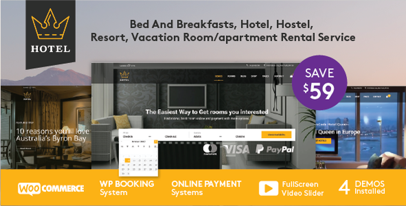 Hotel WordPress Theme | Hotel Queen - Travel Retail