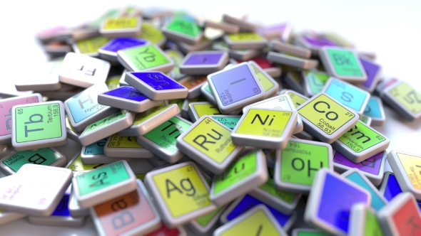 Iodine I Block On The Pile Of Periodic Table Of The Chemical