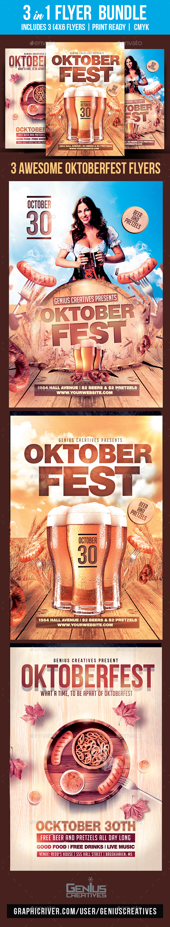 GraphicRiver Oktoberfest Flyer Bundle 20804411