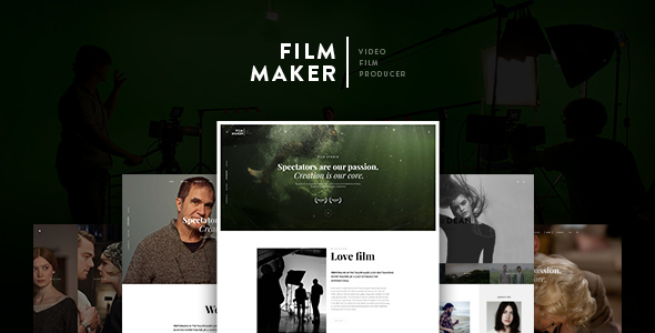 FilmMaker Drupal 8 Theme Movie Production - Video Blogger - Creative Agency - Portfolio Creative