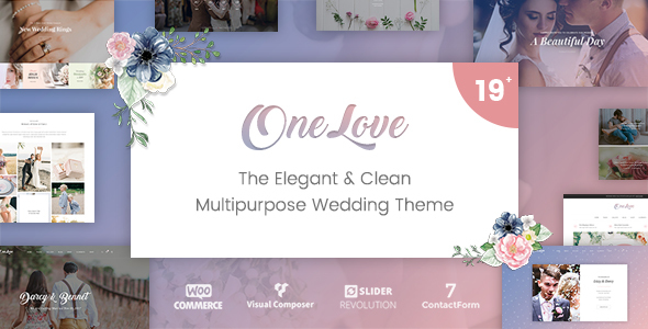 Image of OneLove - The Elegant & Clean Multipurpose Wedding WordPress Theme