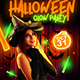 Halloween Glow Party Flyer