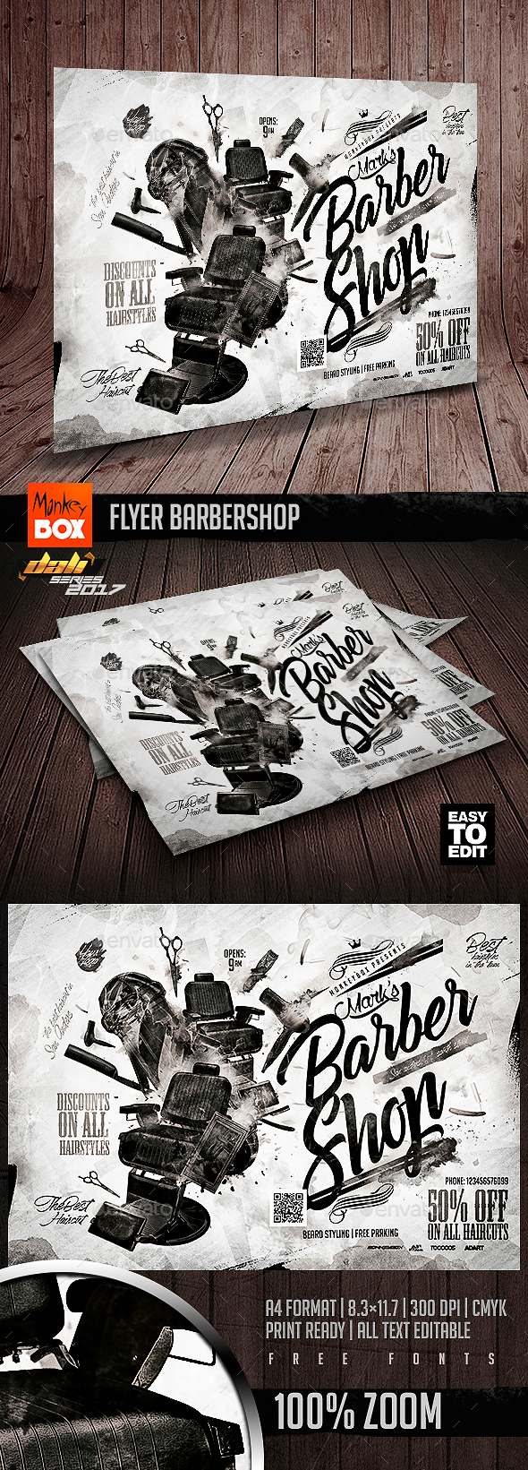 GraphicRiver Flyer Barbershop 20804784