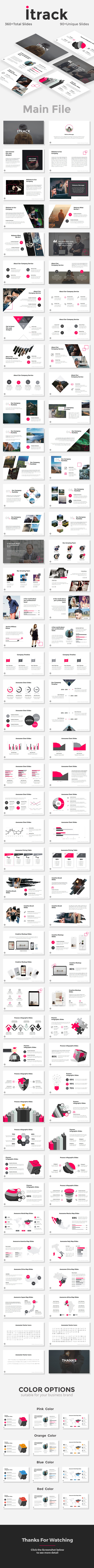 Itrack - StartUp Pitch Deck PowerPoint Templates - Pitch Deck PowerPoint Templates