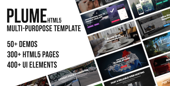 PLUME HTML5 Multi-Purpose Template - Corporate Site Templates