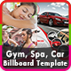 Gym, Spa & Car Billboard Templates