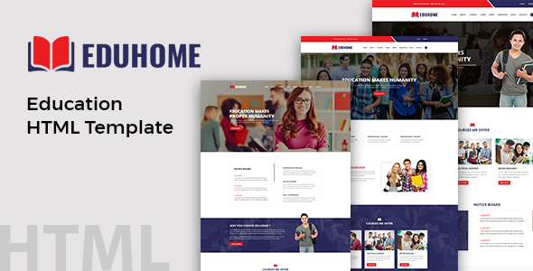 Image of Eduhome - Education HTML Template