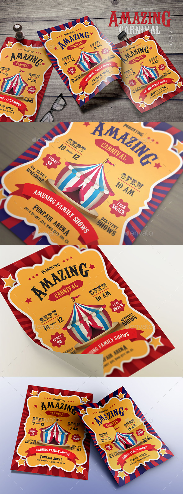 GraphicRiver Amazing Carnival Flyers 20805188