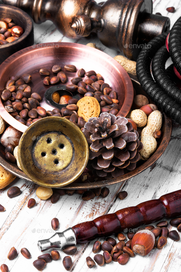 Hookah with a nut taste - Stock Photo - Images