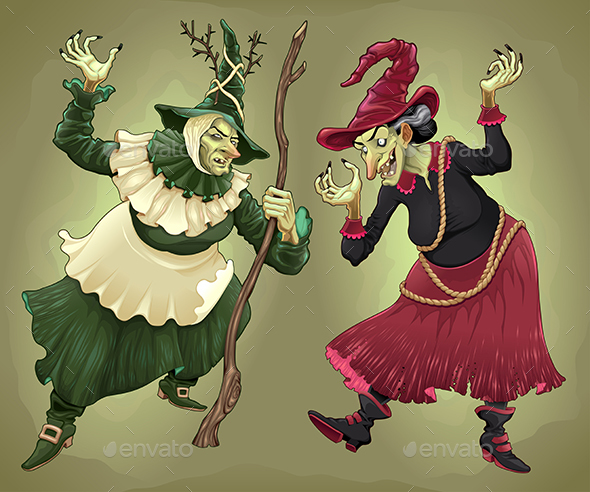 Couple of Witches for Halloween - Halloween Seasons/Holidays