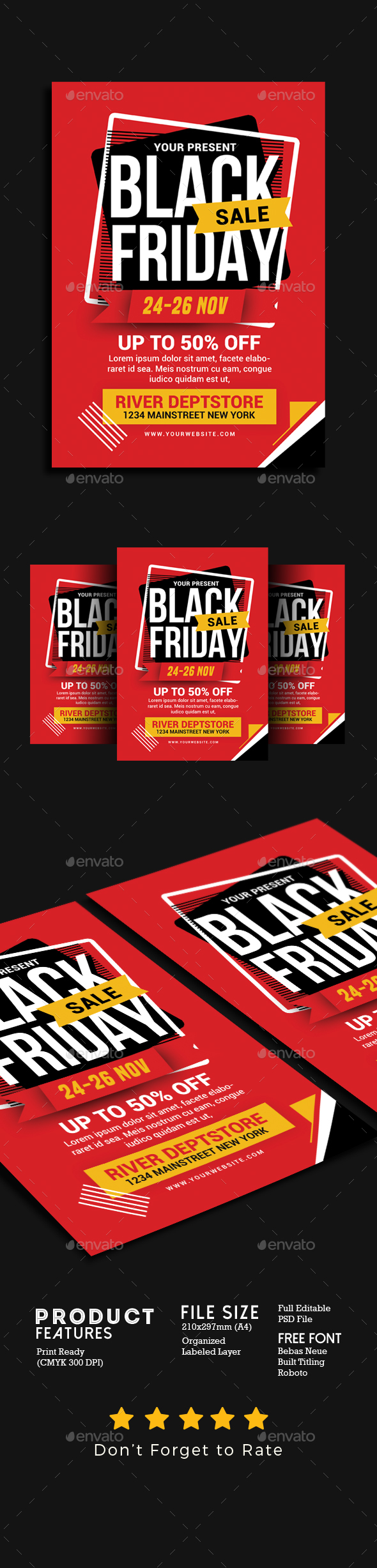 GraphicRiver Black Friday Sale Flyer 20805332